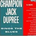 Audio CD Cover: Champion Jack Dupree Sings the Blues