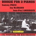 Audio CD Cover: Boogie For 3 Pianos von Jean-Paul Amouroux